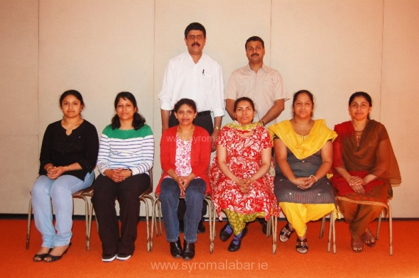 Sitting Left to right: Ann Sweety,Rageena Tibi,Bigi Regi,Lizamma Sebastian,Jerry Joy,Clara Cherian. Standing left to right: Binu Antony,Biju Thomas