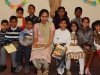 Class I teacher Mrs Zeena Benny with her students