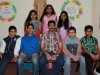 Class VII teacher Mr Binoy with his students
