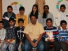 Class VI teacher Mr Shibu Joseph with his students